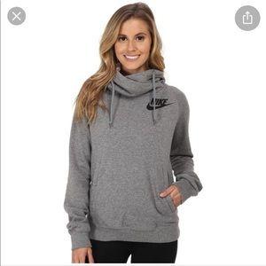 Nike rally women's hoodie in grey.